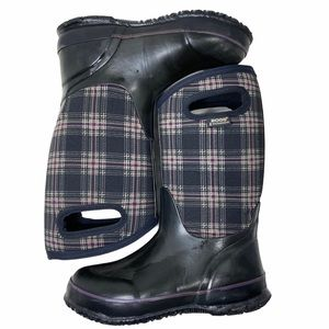 Bogs Plaid Boots Waterproof Winter Snow Tall